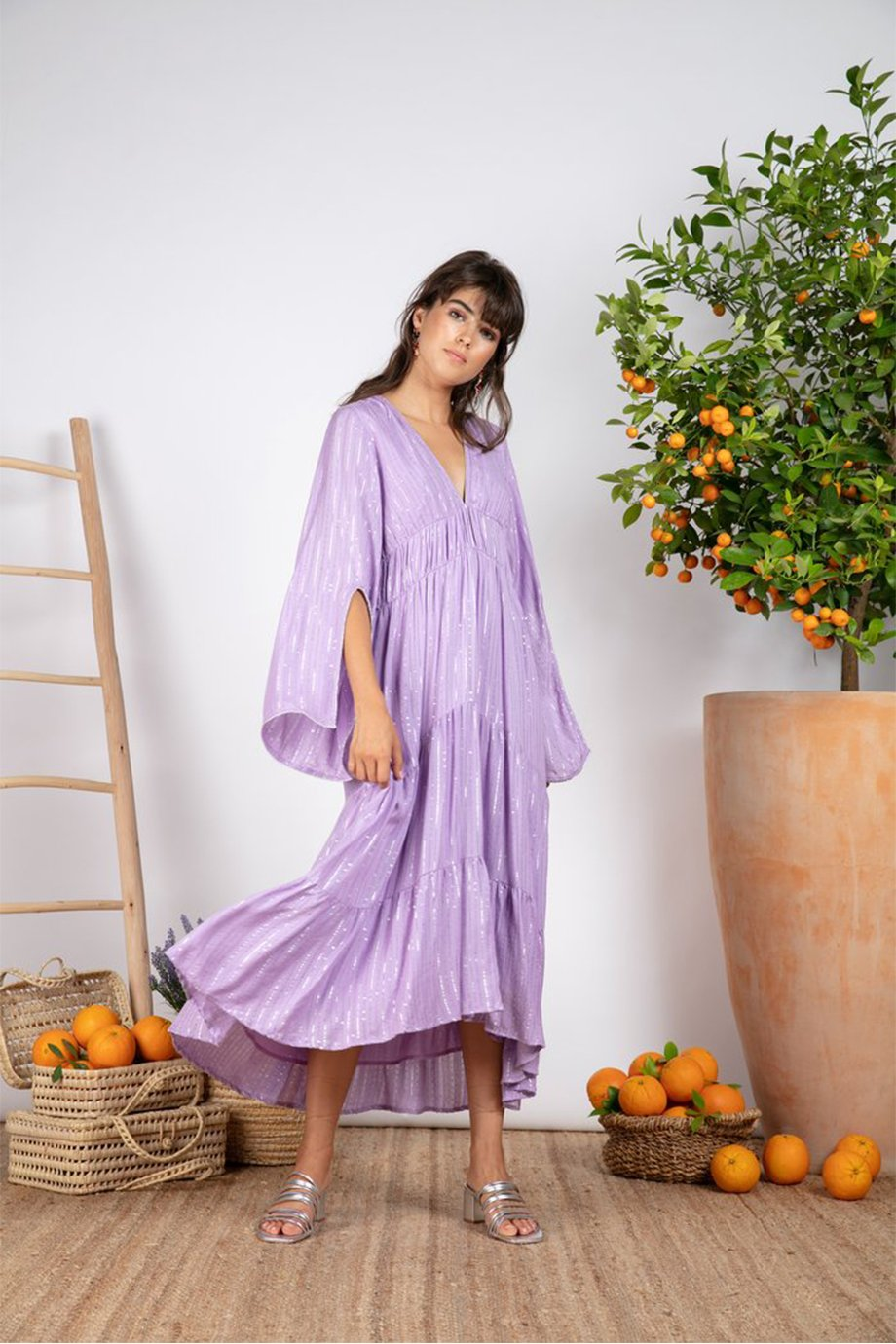CLAUDIA LONG DRESS ROMA LAVANDER