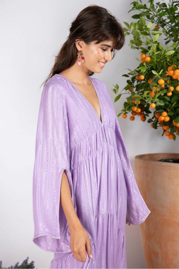 CLAUDIA LONG DRESS ROMA LAVANDER