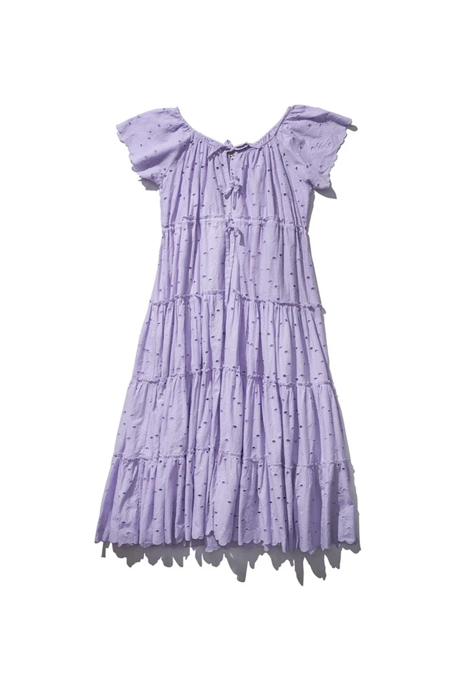 PEASANT DRESS DUSTY LILAC