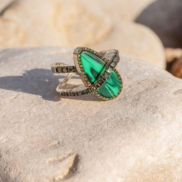 ACHOR MALACHITE RING