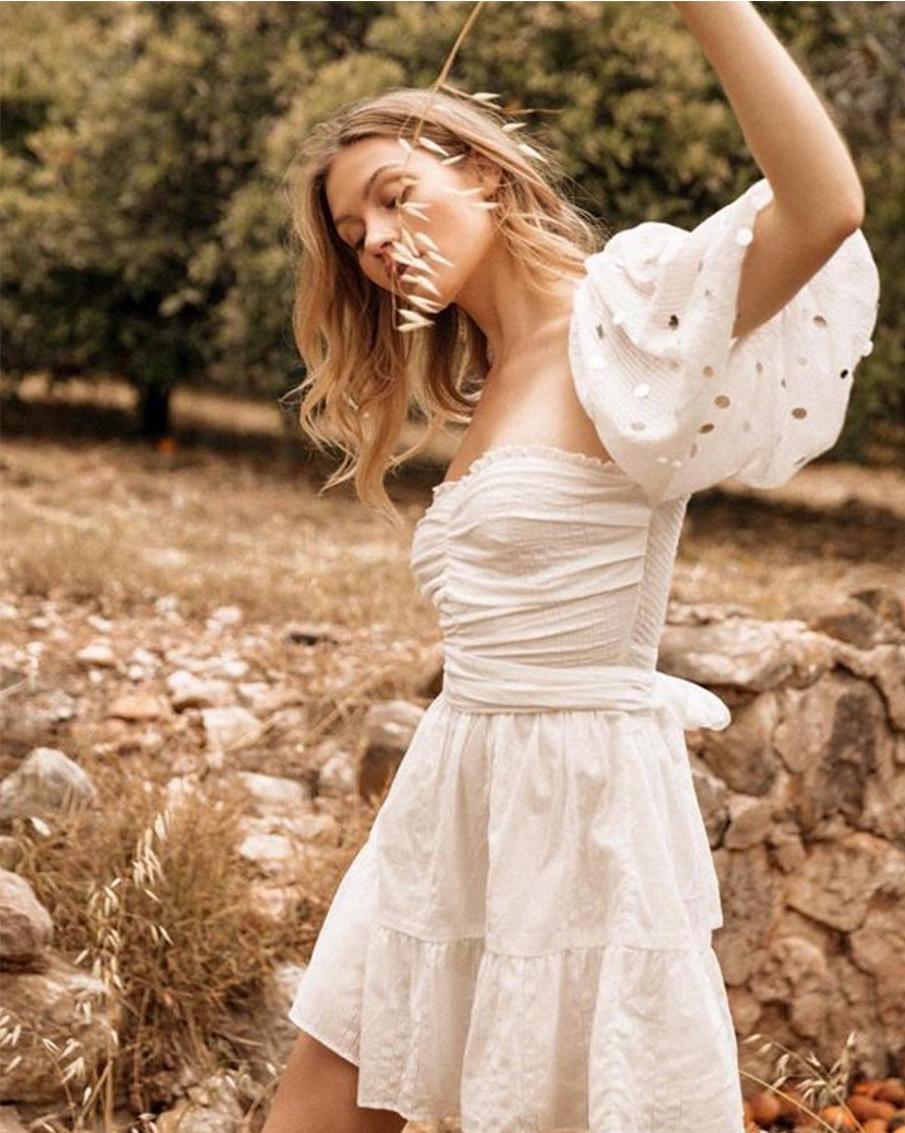 ALANA SHORT DRESS WHITE