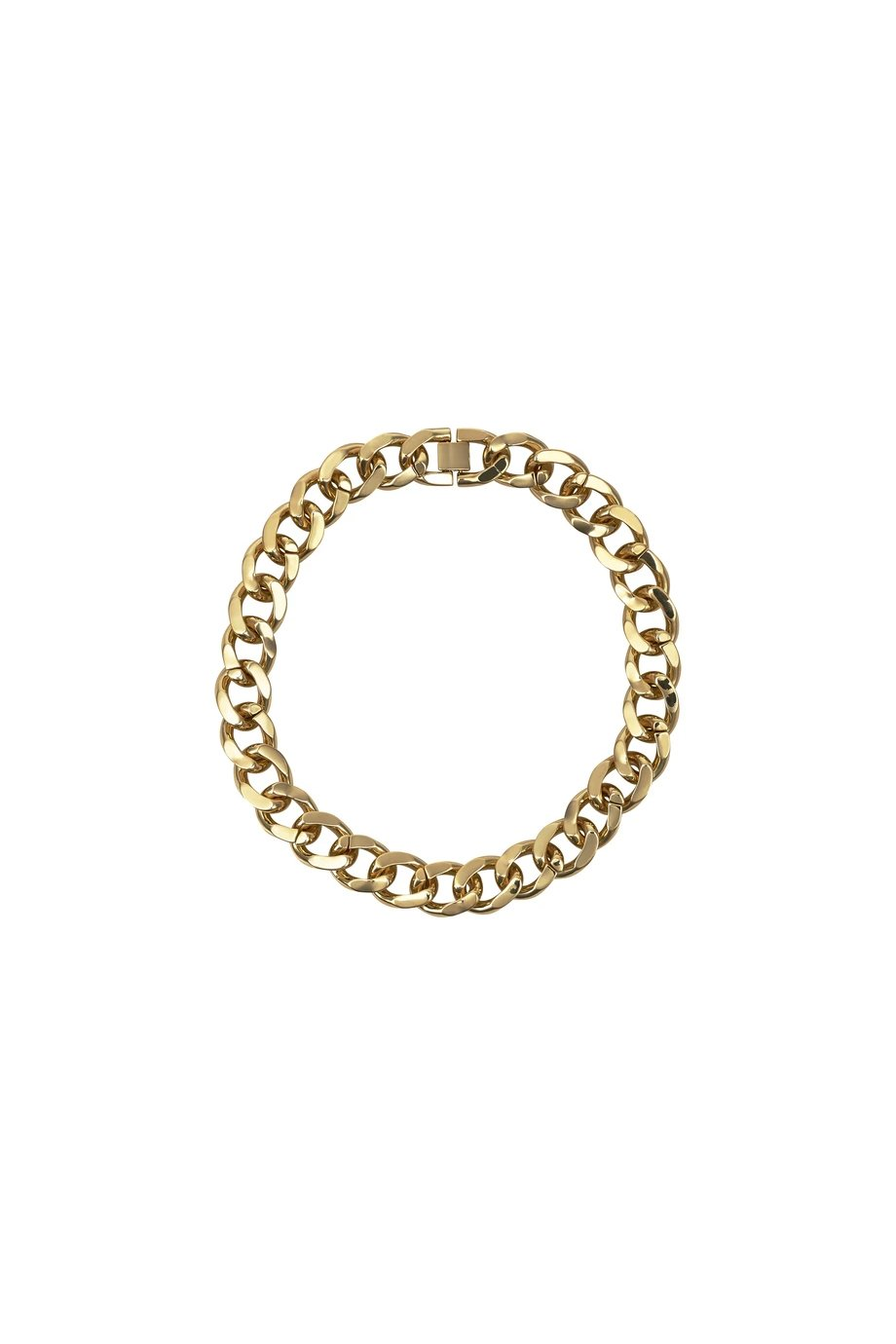 ARMURE XL CURB COLLAR GOLD BRACELET