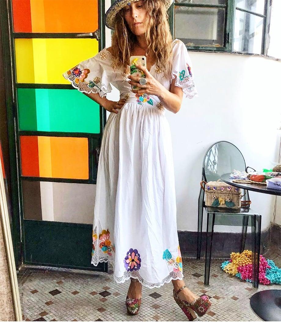 EMBROIDERED BALI DRESS