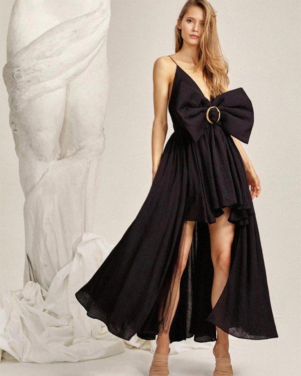 GLENDALE DRESS-BLACK