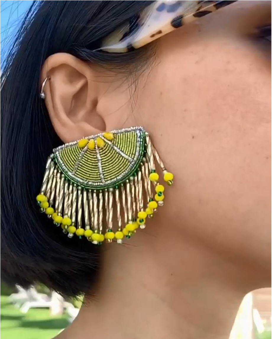 SASSARI EARRINGS LIME