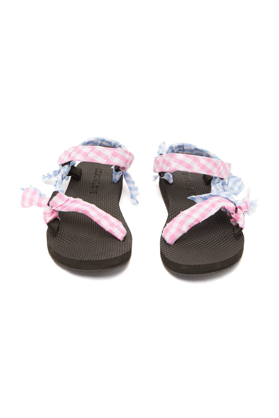 VICHY SANDALS PINK BLUE CHECK