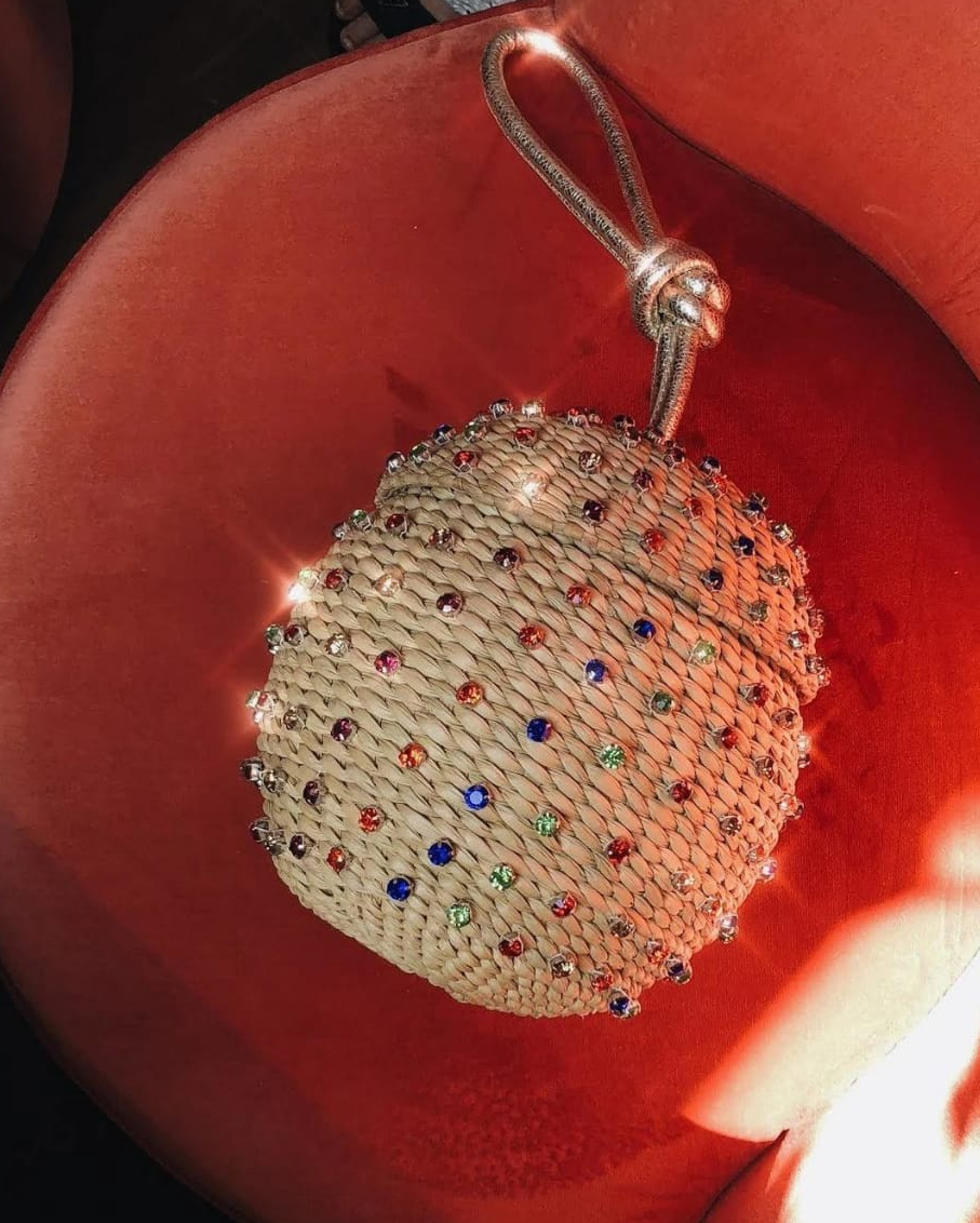BLINGED OUT SPHERICAL WRISTLET INTERIOR LINING RAINBOW
