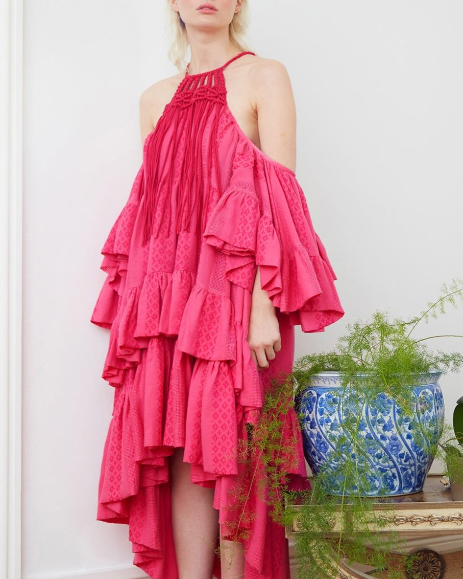 TOO SHY MIDI DRESS-LARGE-PINK