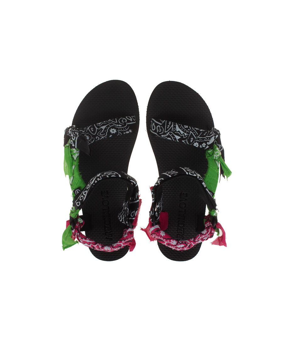 TREKKY BANDANA SANDALS MIX BLACK