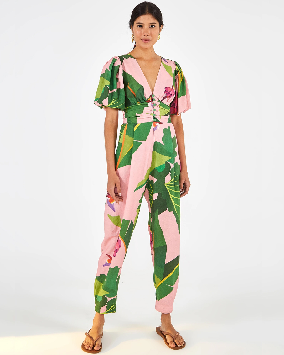 TROPICALISTIC JUMPSUIT PINK MULTI