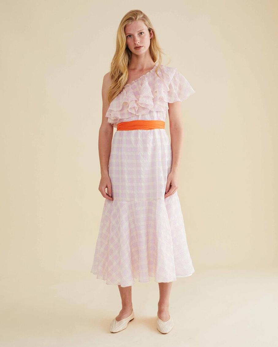 ROSAL DRESS PINK CHECK