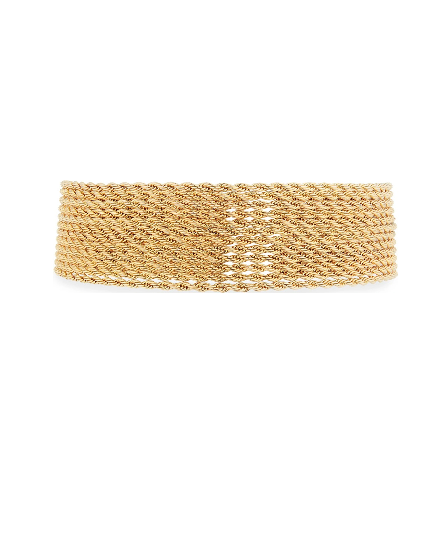 YACHT CLUB STACKED CHOKER GOLD
