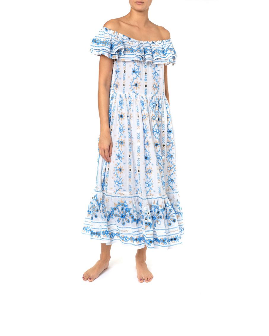 NOMAD PRINT OFFSHOULDER MAXI DRESS