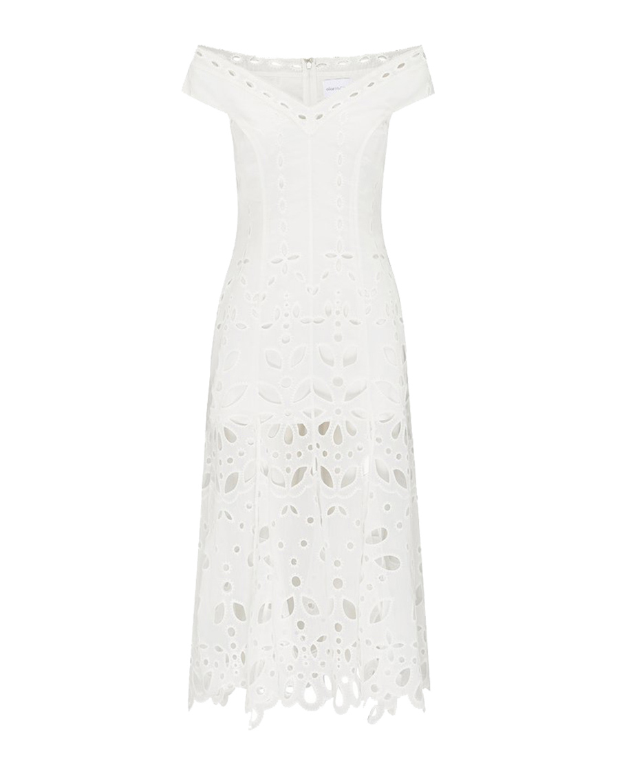 BAUDELAIRE MIDI DRESS PORCELAIN
