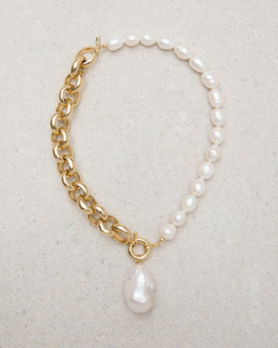 HANDMADE GOLD PLATED CHAIN NECKLACE