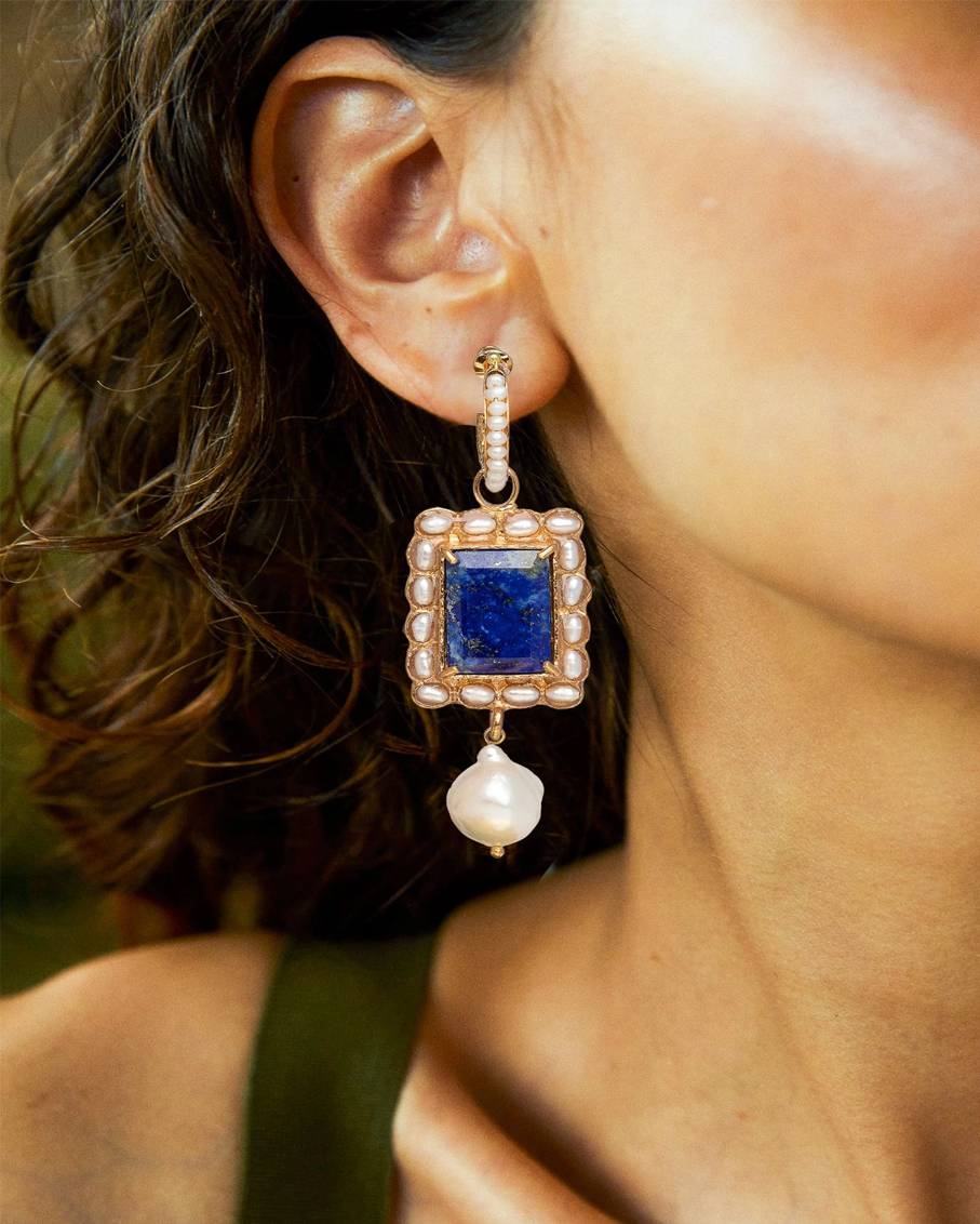 AURELIA EARRINGS BLUE