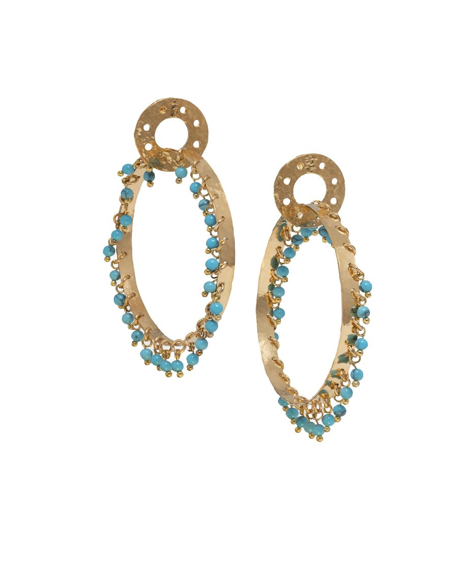 MILANA HOOPS TURQUOISE