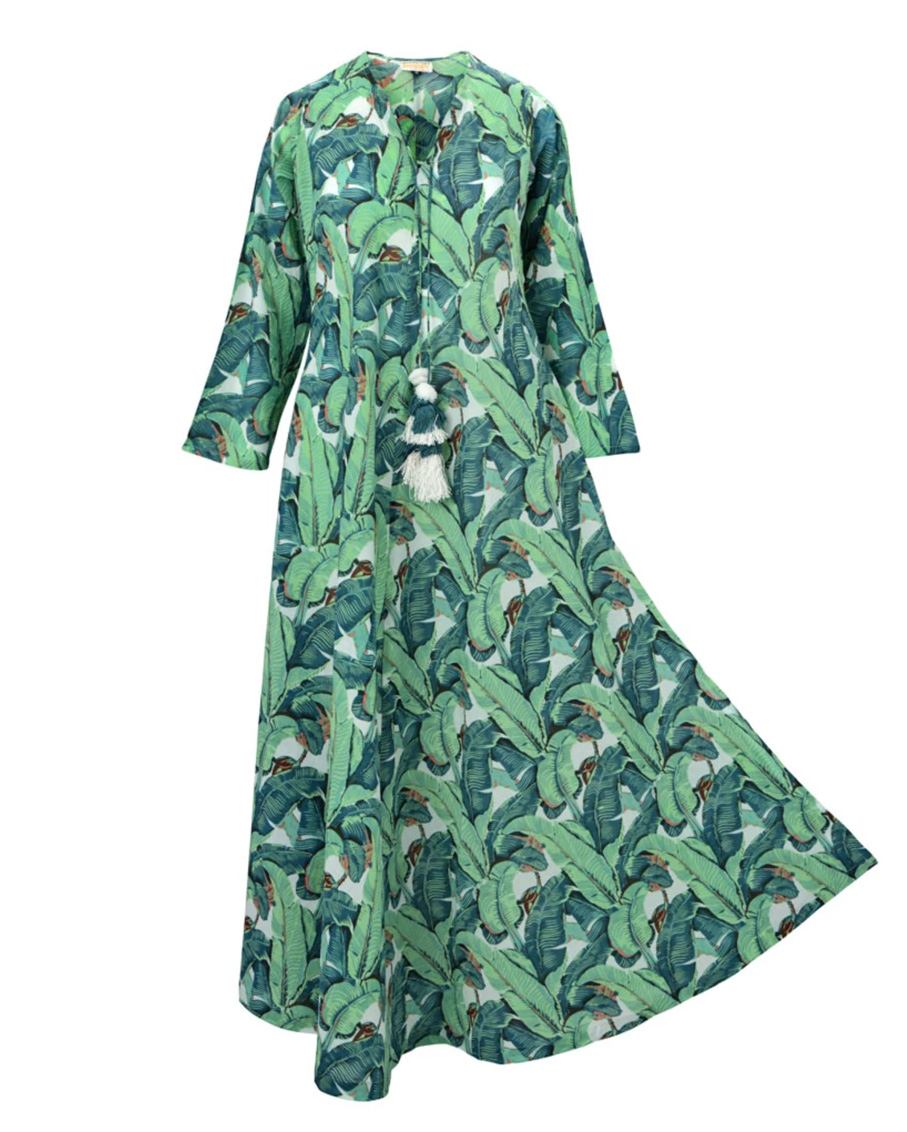 FOREST LONG TUNIC BLACK GREEN