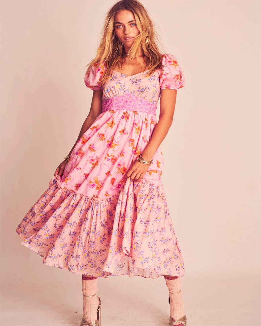 ANGIE DRESS_EXPLODED PINK