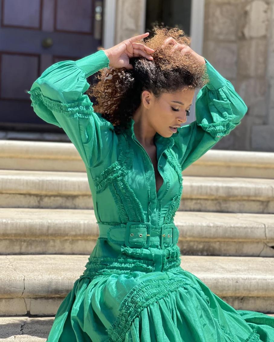 STARLET DRESS-GREEN
