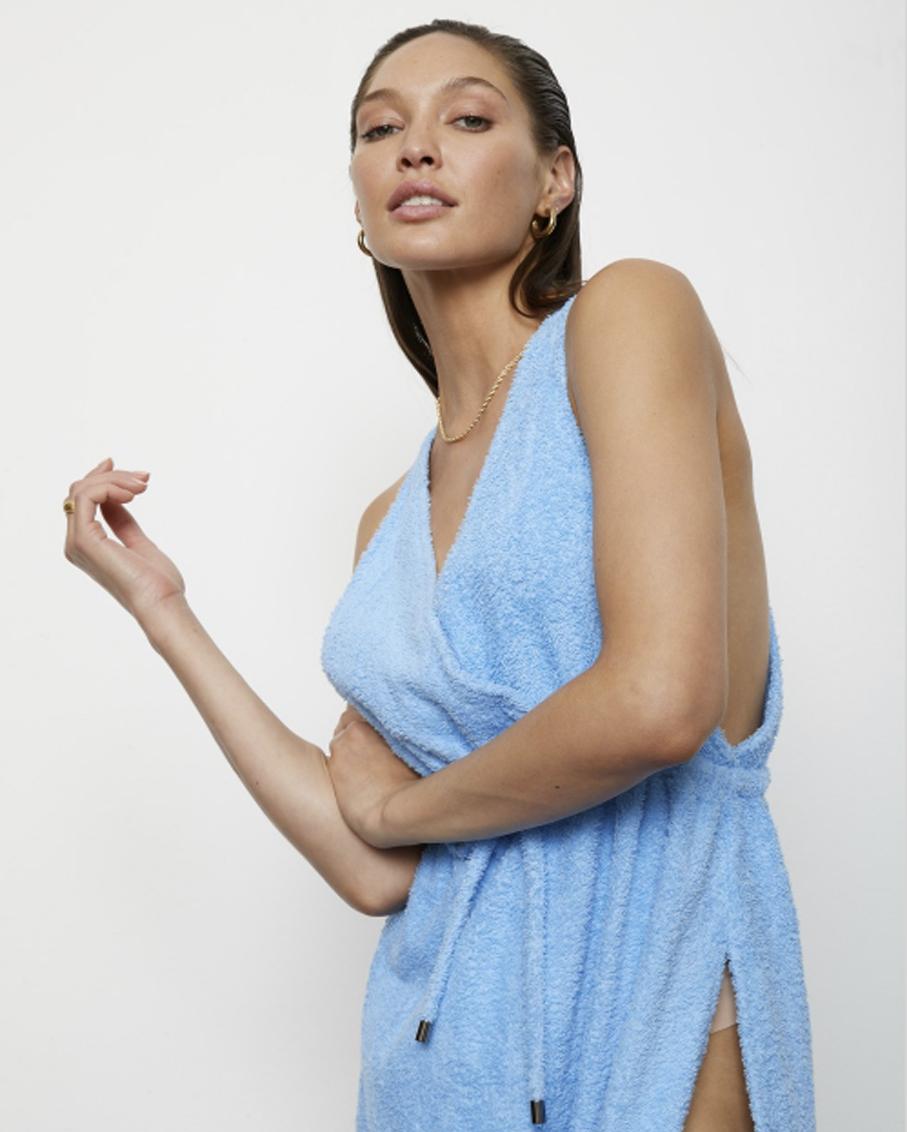 THE ERICA DRESS VISTA BLUE