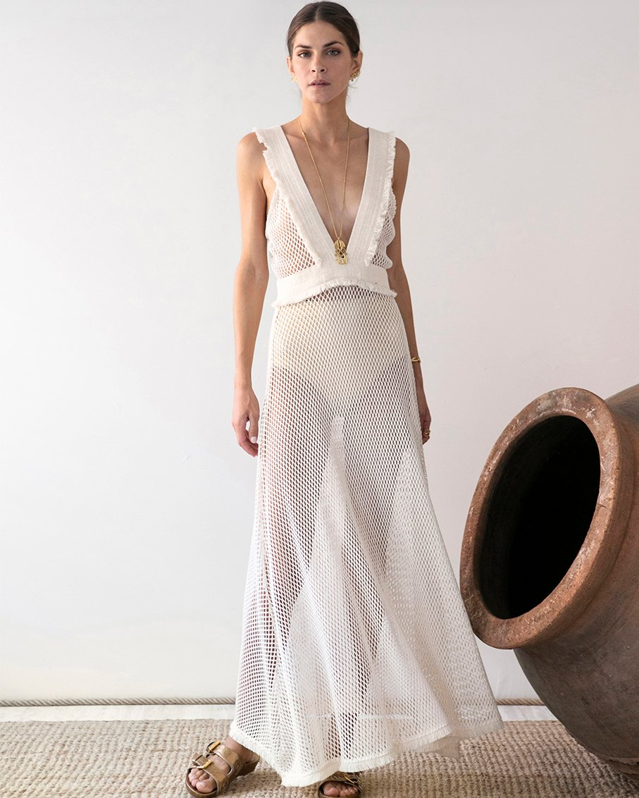 KLEIO NET BEACH DRESS