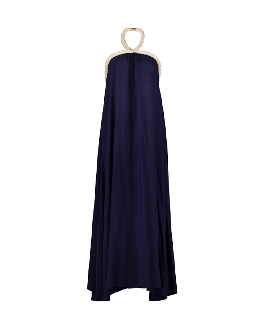 RONJA EMBROIDERED DRESS WITH HAND MADE ROPE