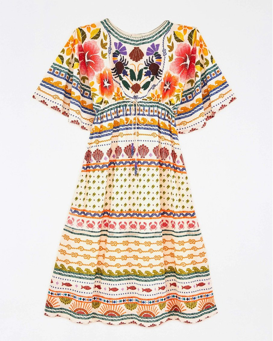 SALT ISLAND MIDI DRESS MULTI