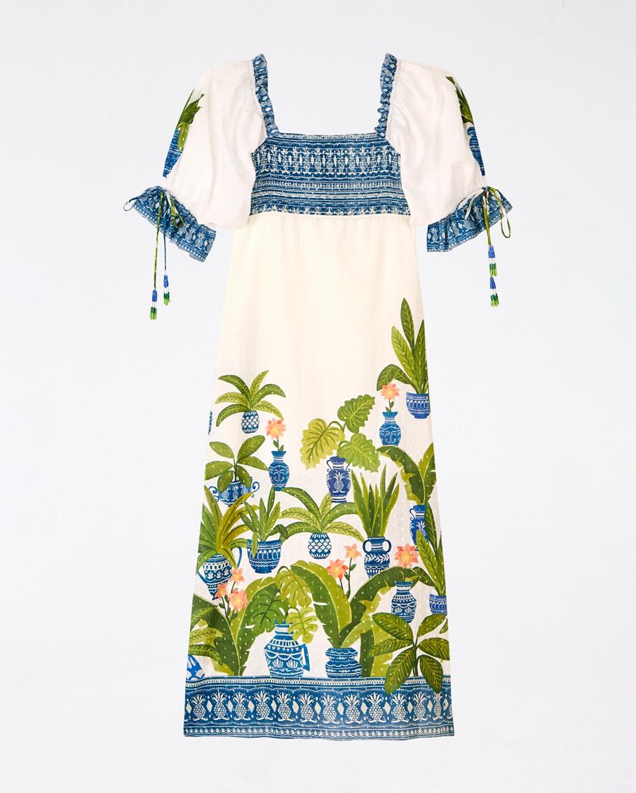 VASE FOREST MAXI DRESS MULTI
