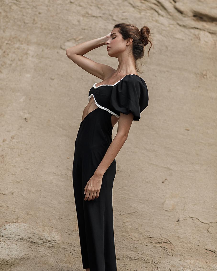 AURELIA DRESS BLACK AND WHITE