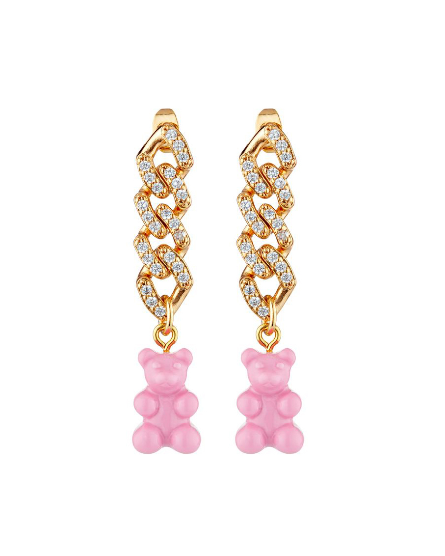 NOSTALGIA EARRING WITH CANDY PINK BEAR
