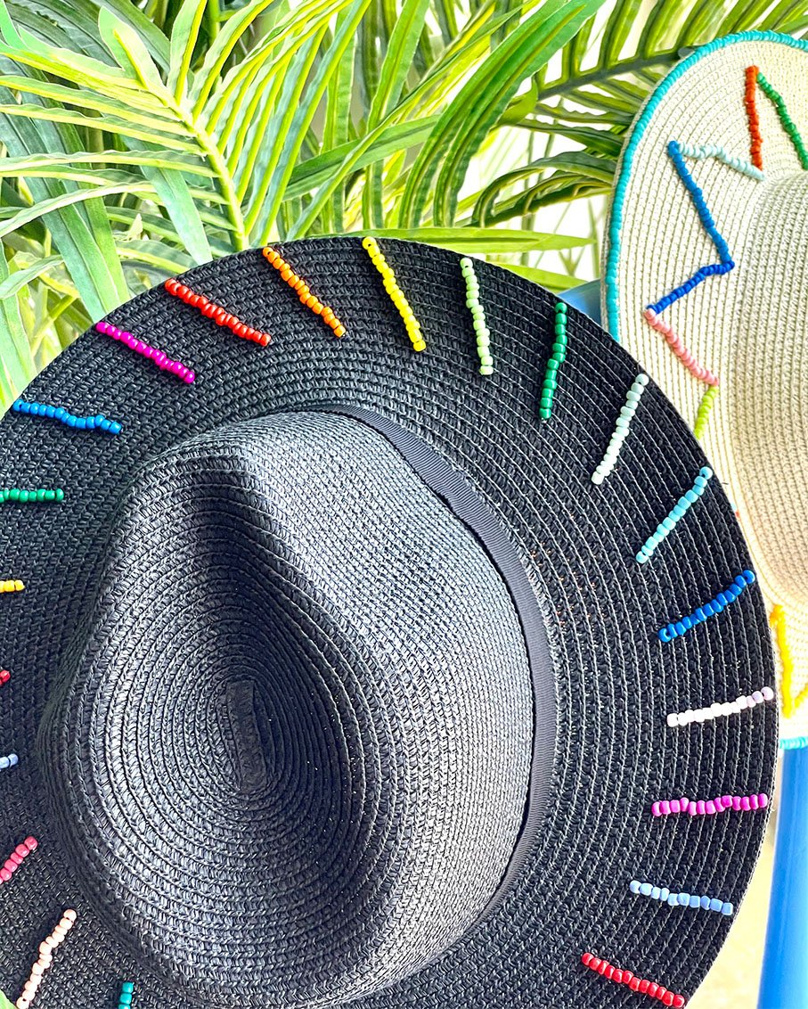 PANAMA STRING MULTI BEADS HAT