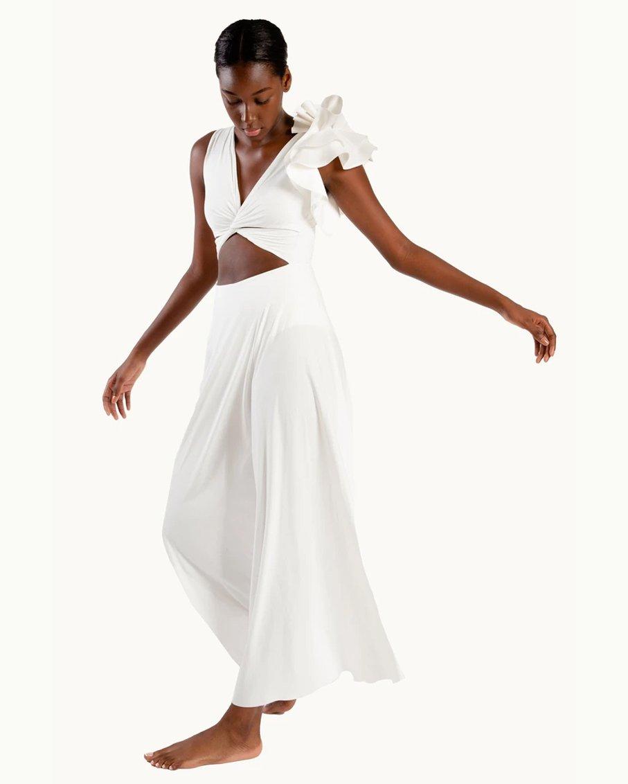 BLANCA REVERSIBLE MAXI DRESS WHITE