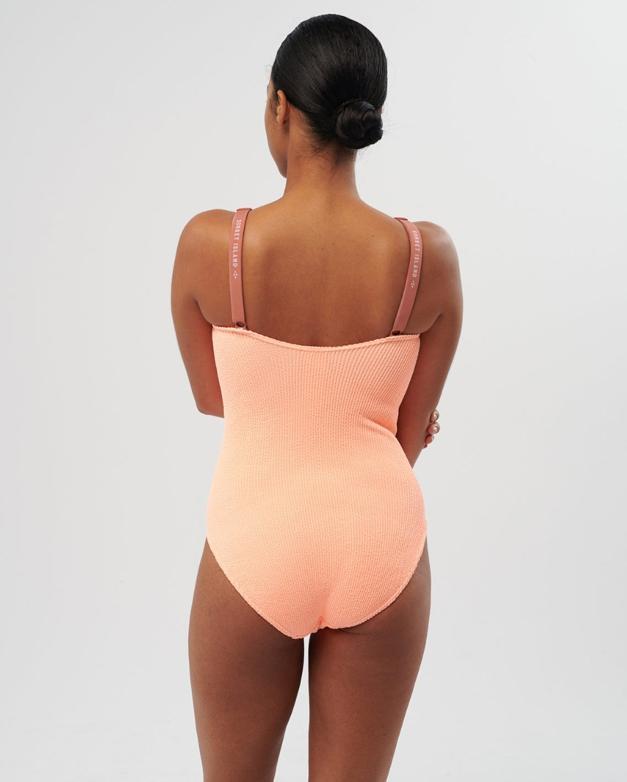 DELPHINE - ONE SIZE ONE PIECE SWIMSUIT_APRICOT