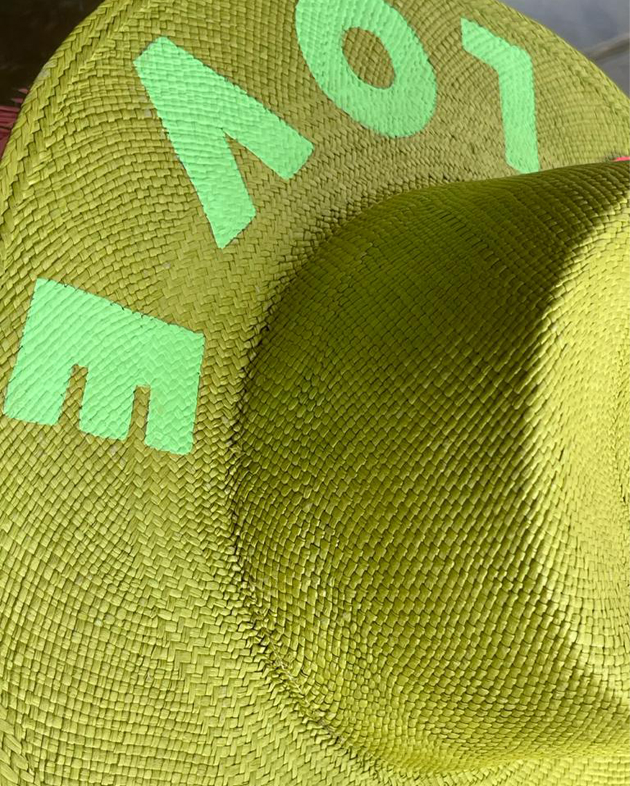 GREEN GRACIA HAT - LOVE