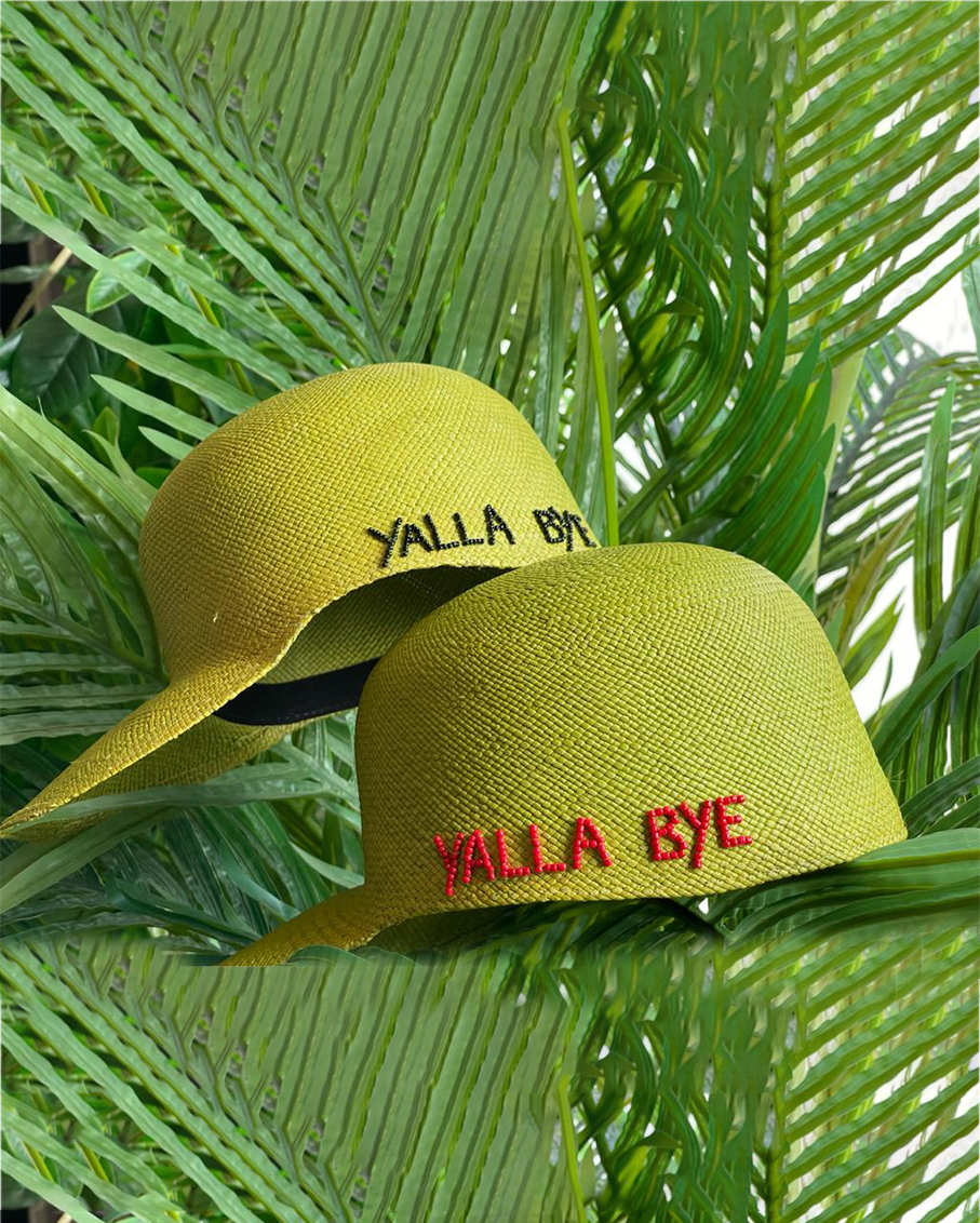 GREEN SOHO CAP - YALLA BYE IN RED COLOUR