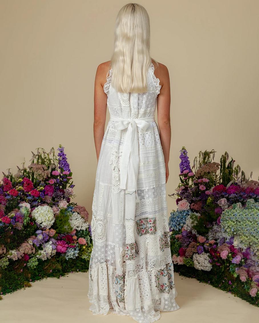 HALYCON PATCHWORK HALTER DRESS MULTI