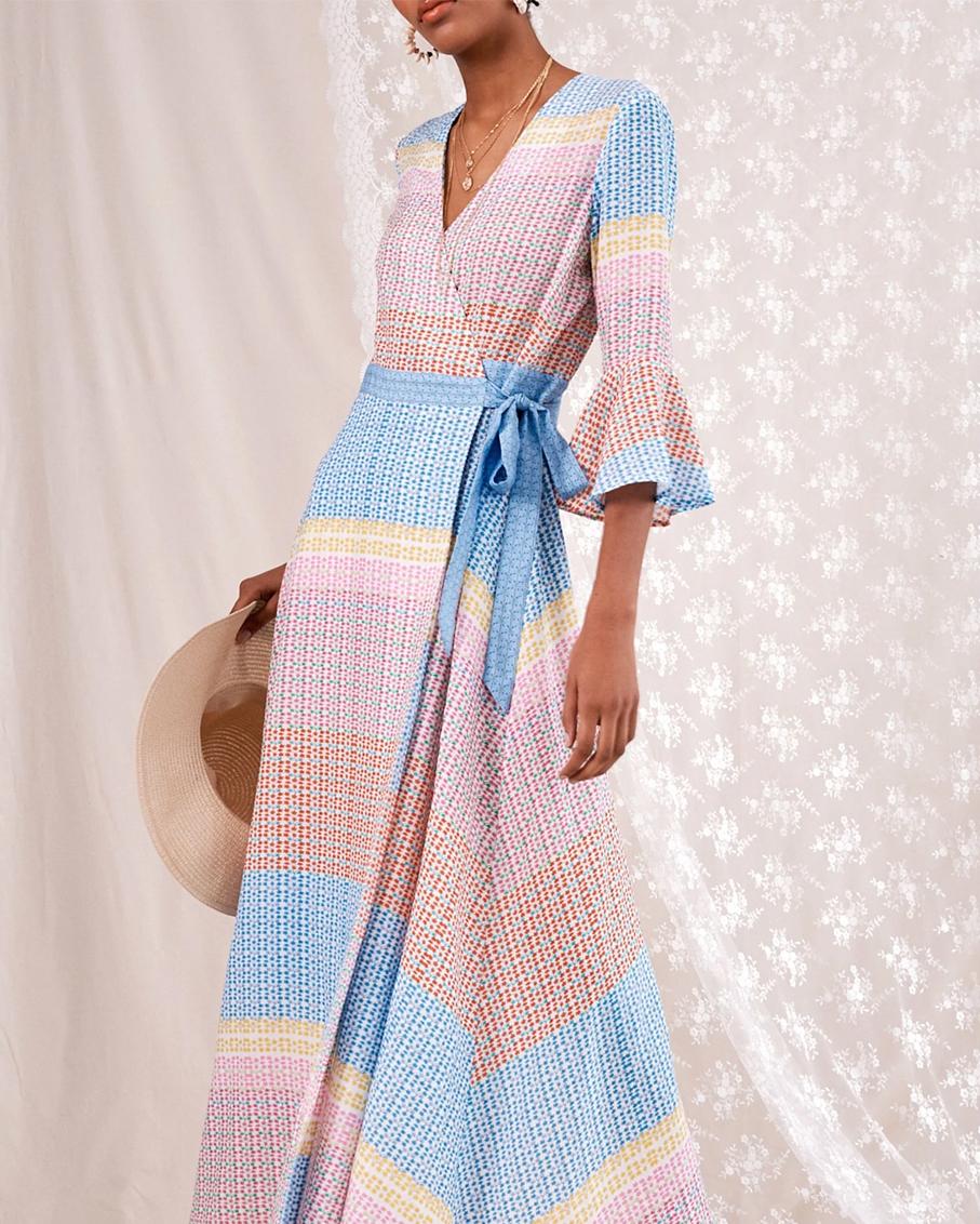 WRAP KIMONO DRESS / IMPALA TULIP