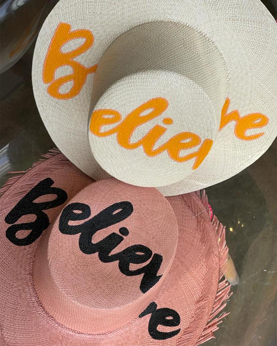 PINK GRACIA HAT- BELIEVE