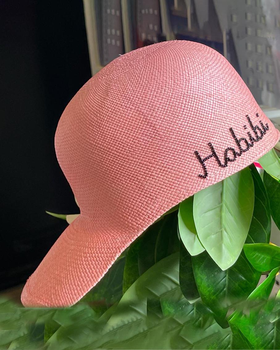 PINK SOHO CAP - HABIBI IN BLACK