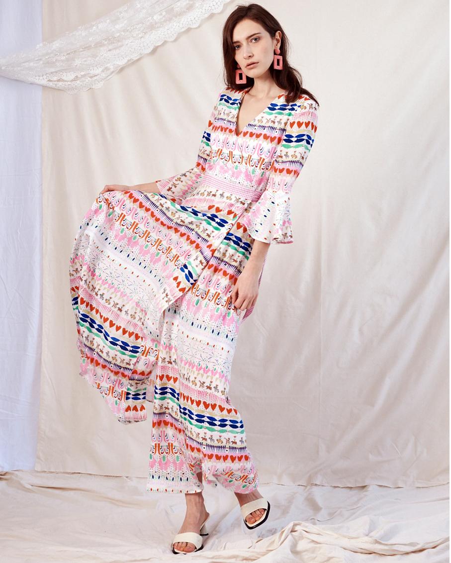 WRAP KIMONO DRESS / OKAPI HAPPY