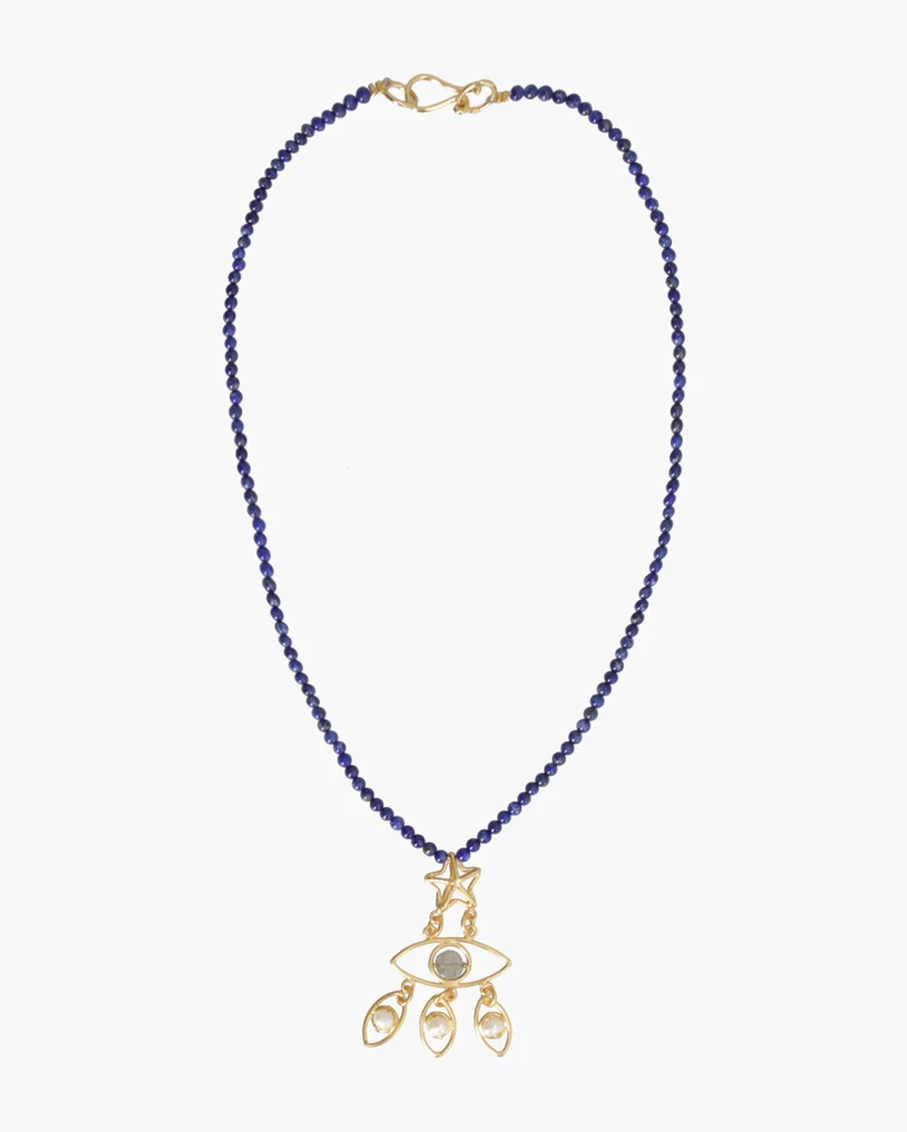 IN YOUR EYES NECKLACE 100% PLATED BRASS