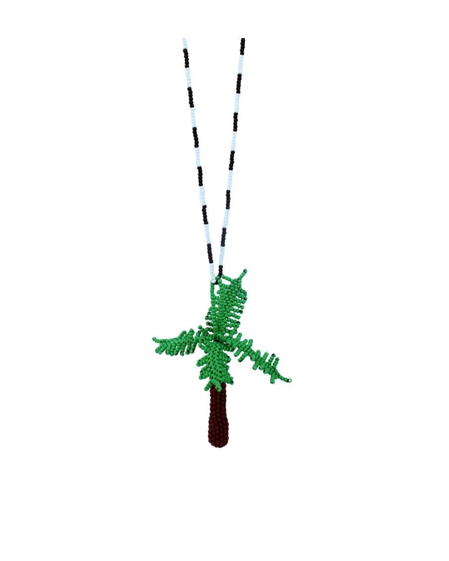 PALMA TOTEM PALM GREEN NECKLACE