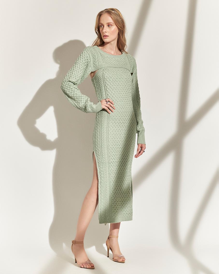 RAISSA KNITTED DRESS MINT