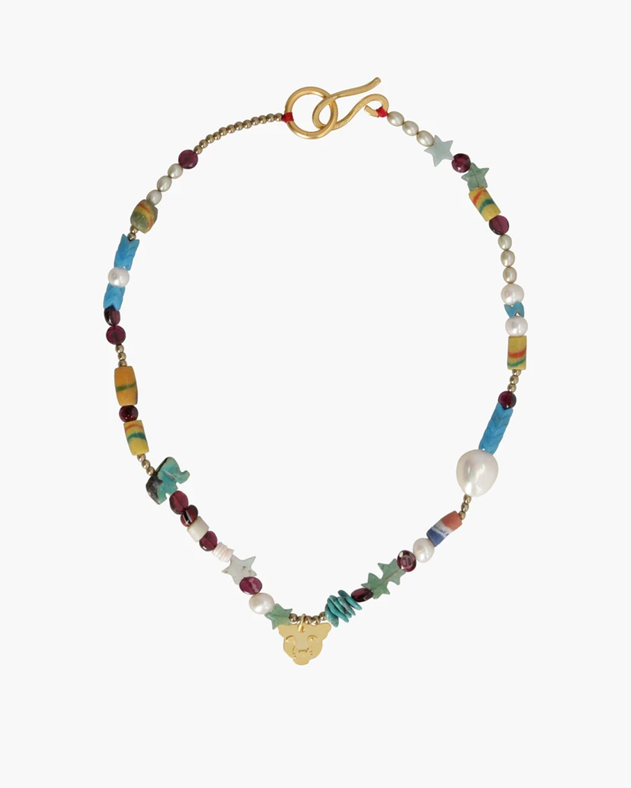 RAINBOW NECKLACE 100% PLATED BRASS