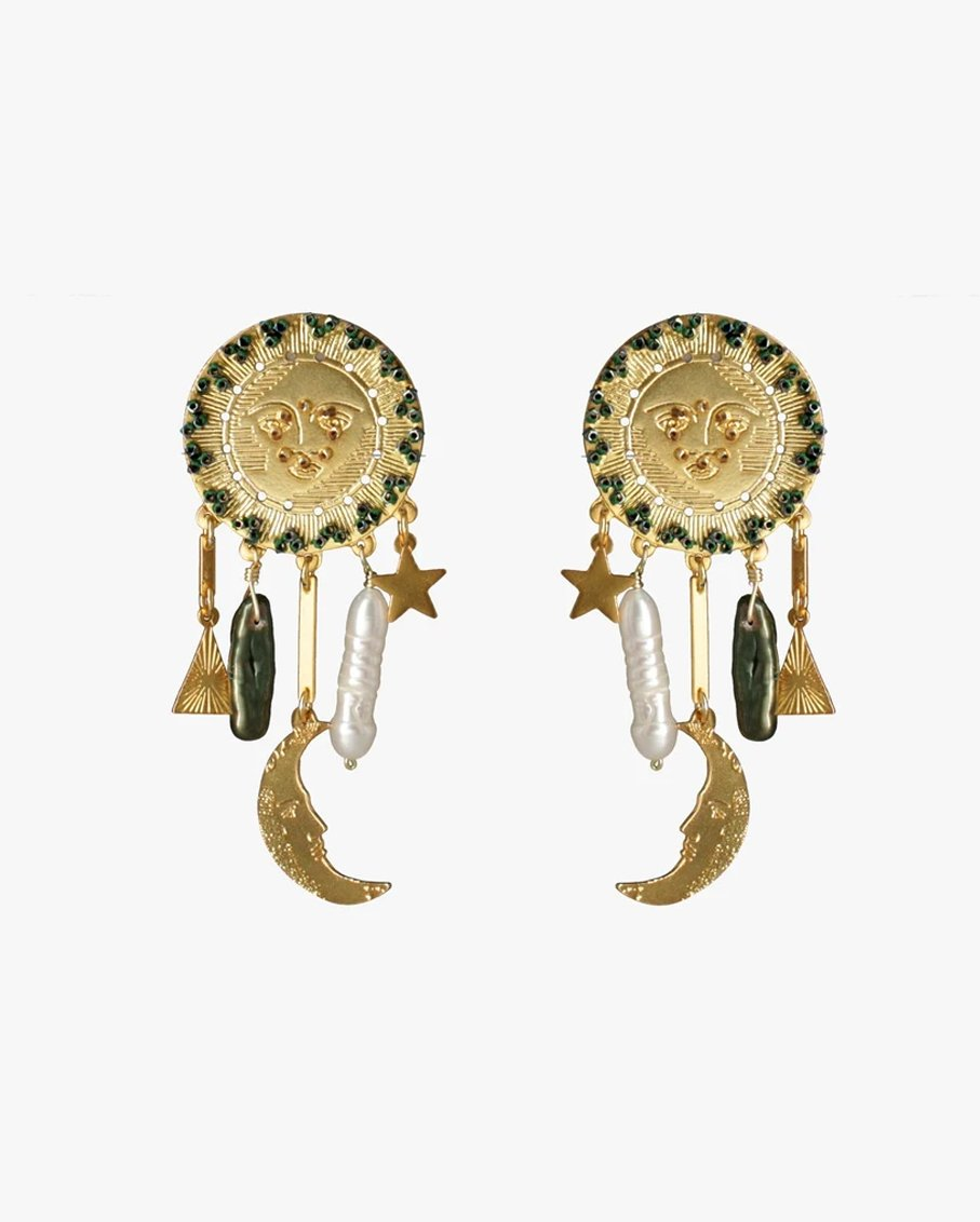 THE BEGGINING EARRINGS 100% PLATED BRASS
