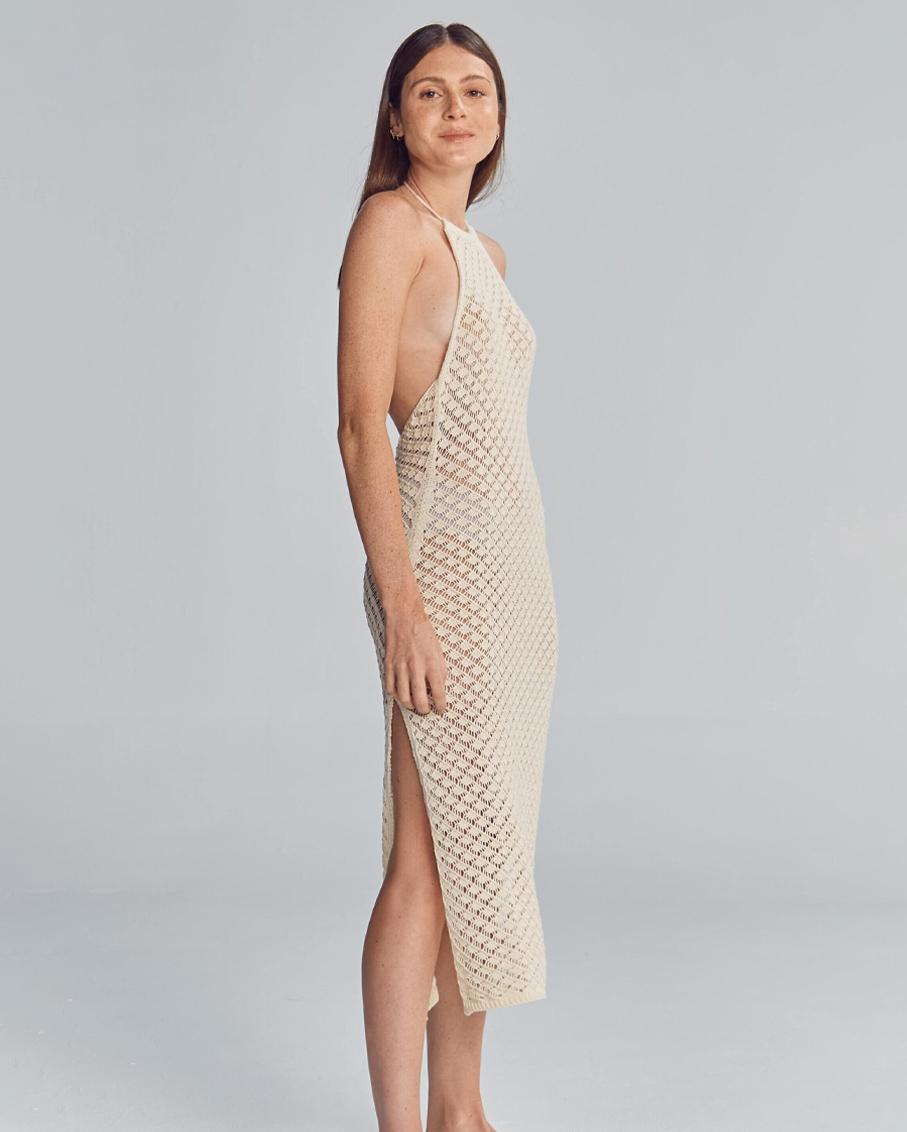 CORNELIA CROCHET IVORY DRESS