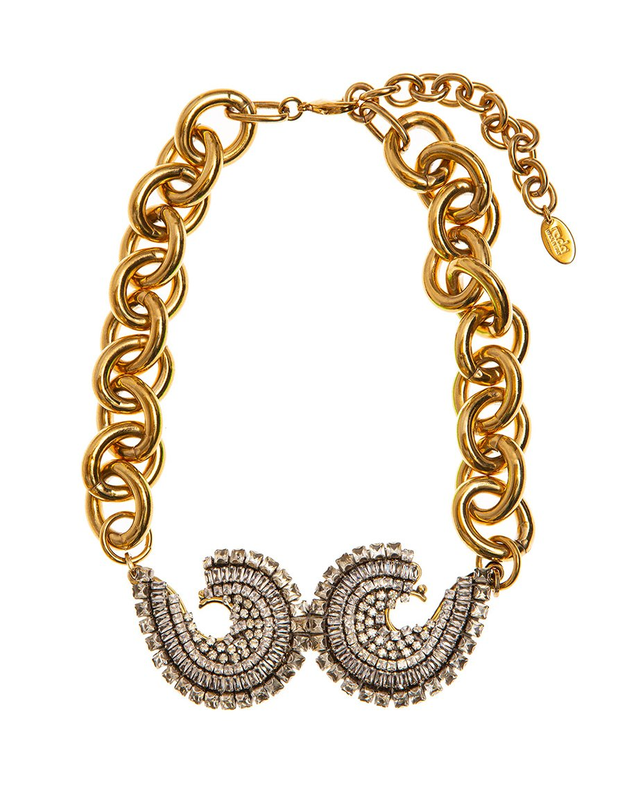 GOLD ANTIQUE/ STRASS-STONES NECKLACES