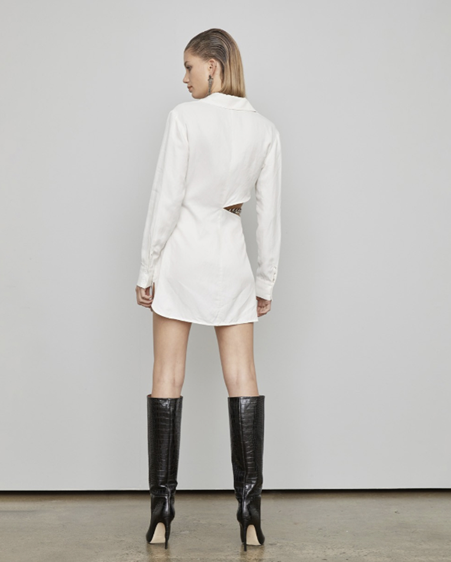 THE INCLINATION DRESS WHITE