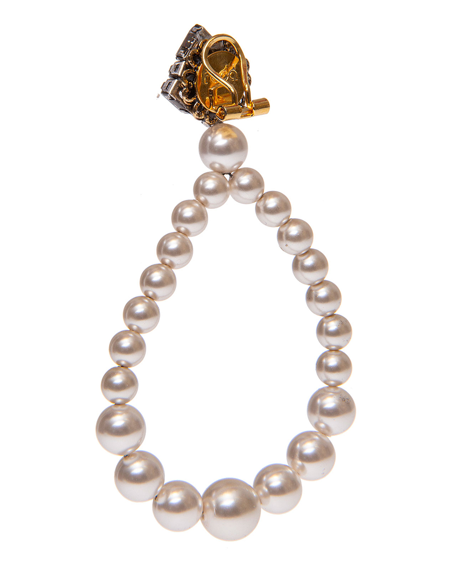 PEARLS AND CRYSTALS CLIP WITH EARRINGS